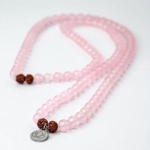 LotusMala Rózsakvarc nyaklánc